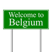 Welcome to Belgium, concept road sign — Stock Vector