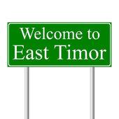 Doğu timor, kavram yol işaret edilir — Stok Vektör