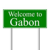 Welkom in gabon, concept verkeersbord — Stockvector