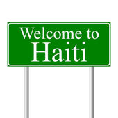 Welcome to Haiti, concept road sign — Stock Vector