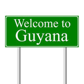 Welcome to Guyana, concept road sign — Stock Vector