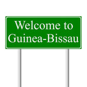 Welcome to Guinea-Bissau, concept road sign — Stock Vector