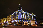 Zinger's house («House of books») at night — Foto de Stock
