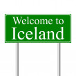 Welcome to Iceland, concept road sign — Stock Vector
