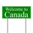 Welcome to Canada, concept road sign — Stock Vector #8399811