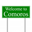 Welcome to Comoros, concept road sign — Stock Vector