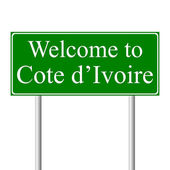 Welcome to Cote d'Ivoire — Stock Vector