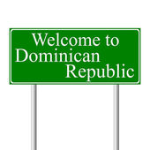 Welcome to Dominican Republic, concept road sign — Cтоковый вектор