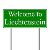 Welcome to Liechtenstein, concept road sign — Stock Vector