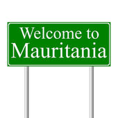 Welcome to Mauritania, concept road sign — Stock Vector