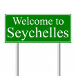 Welcome to Seychelles, concept road sign — Stock Vector #8411396