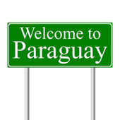 Welcome to Paraguay, concept road sign — Stock Vector