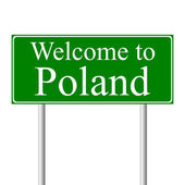 Welcome to Poland, concept road sign — Stock Vector