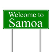 Welcome to Samoa, concept road sign — Stock Vector