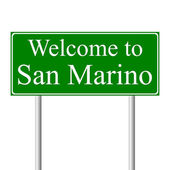 Welcome to San Marino, concept road sign — Stock Vector