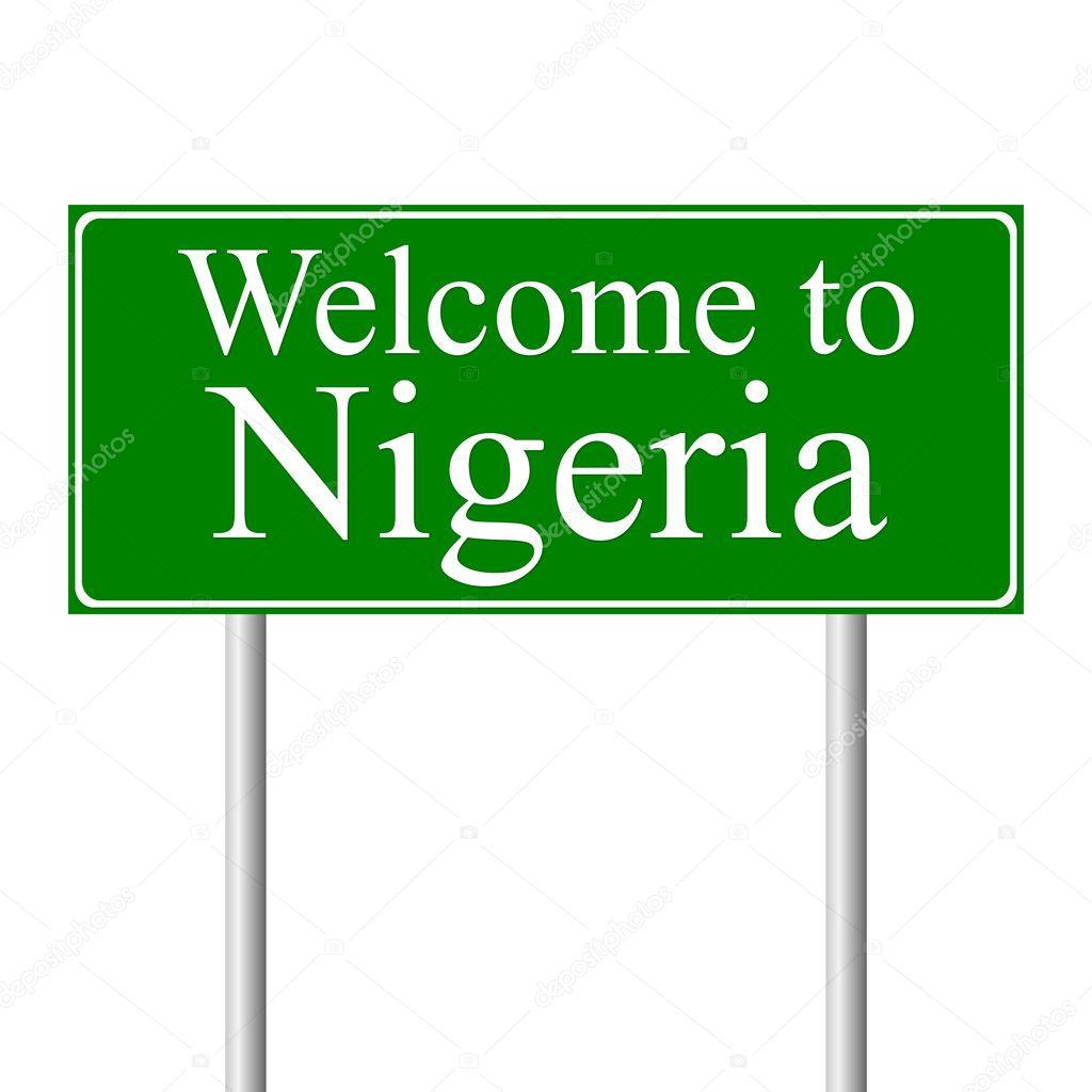 Road Signs in Nigeria Nigeria Concept Road Sign
