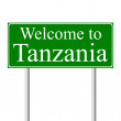 Welcome to Tanzania, concept road sign — Stock Vector #8428532