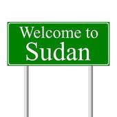 Witamy w sudanie, koncepcja znak drogowy — Wektor stockowy