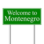 Welcome to Montenegro, concept road sign — Stock Vector