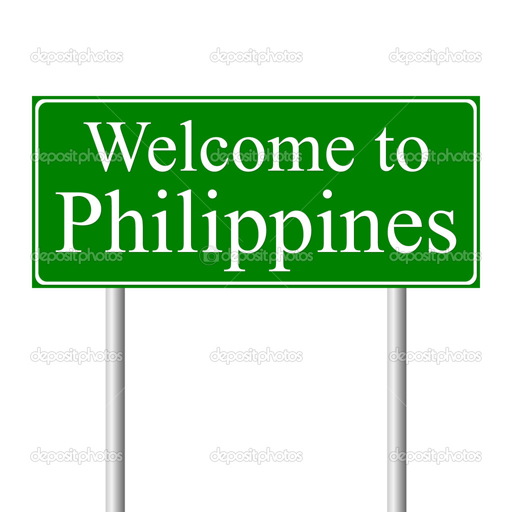 Welcome to Philippines, concept road sign — Stock Vector