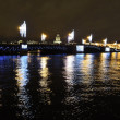 Palace Bridge at night in St.Petersburg — Stock Photo #8460680