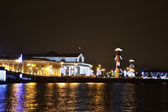 St. Petersburg, Vasilievsky island at night — Stock Photo