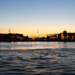 View of Neva river at night — Stock Photo