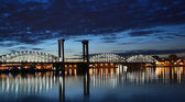Finland Railway Bridge at white night — Stock Photo