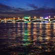 Stock Photo: Night view of Troitsky Bridge