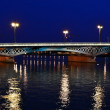 Stock Photo: Blagoveshchensky Bridge at night