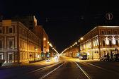 Liteyny Prospekt at night — Stock Photo
