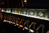 Fragment of Palace Bridge at night — Stock Photo