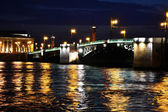 Palace Bridge at night., Saint-Petersburg, Russia — Stock Photo