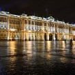 The State Hermitage Museum at night — Stock Photo
