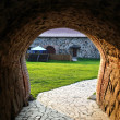 Entrance of old Korela fortress at evening — Stock Photo #8503516