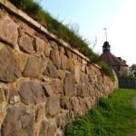 Wall of old Korela fortress at evening — Stock Photo #8503565