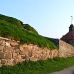 Wall of old Korela fortress at evening — Stock Photo #8503579