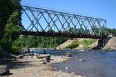 Pont sur la rivière vuoksi — Photo