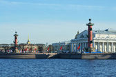 St. Petersburg, Vasilievsky island on a sunny day — Стоковое фото