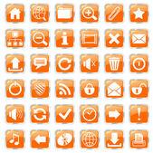 Web icons orange — Stock Vector