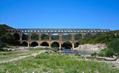Ancient aqueduct in France — Stock Photo