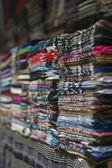 Shawls on the market — Stock Photo