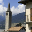 Stock Photo: Church in italivillage