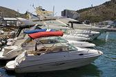 White yachts, Balaklava — Stock Photo