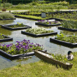 Stock Photo: Flowerbeds on water