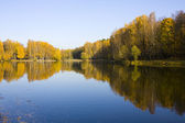 Autumn landscape, lake and forest — Stock Photo