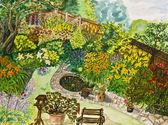 Bahçe, boyama — Stok fotoğraf