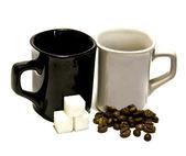 Zwart-wit cups — Stockfoto