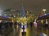 Moskau, weihnachtsbäume — Stockfoto