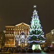 Moscow, Russia - December 15, 2011: Christmas tree - Stock Photo